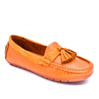 CASUAL DRIVING SHOES MOCCASSIN LM330 orange