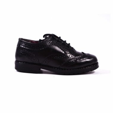 CW GENUINE LEATHER BOYS SCHOOL SHOES LACED side
