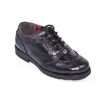 CW GENUINE LEATHER BOYS SCHOOL SHOES LACED