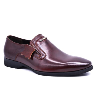 FORMAL LEATHER LINED SLIP ON SHOES LB959