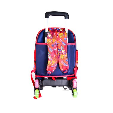 KIDS BACKPACK WITH WHEELS FOR BOYS SCHOOL BAGS WITH LUNCH BOX back