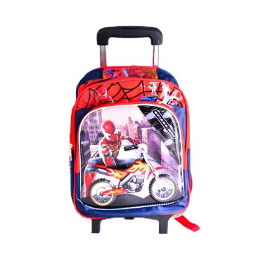 KIDS BACKPACK WITH WHEELS FOR BOYS SCHOOL BAGS WITH LUNCH BOX single