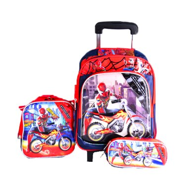 KIDS BACKPACK WITH WHEELS FOR BOYS SCHOOL BAGS WITH LUNCH BOX