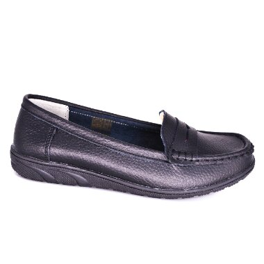 LADIES LOAFERS FLAT BOAT SHOES LM334 side