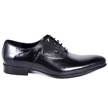 LEATHER SHOES WEDDING PROM OFFICE SHOES black